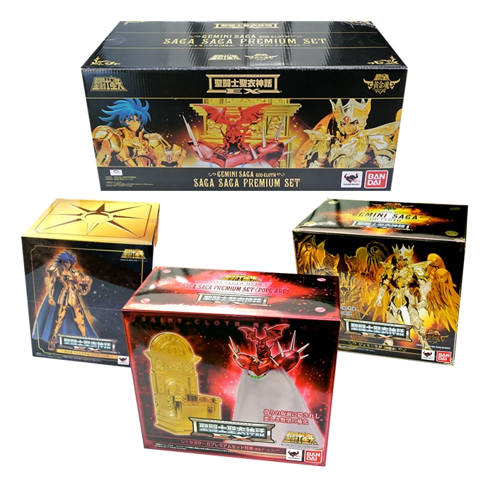 Saint Seiya Gemini Saga Saga Ex Premium Set - Myth Cloth Ex Sould of Gold