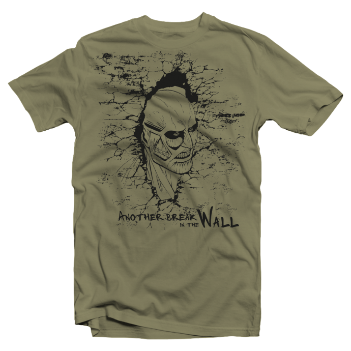 """T shirt homme Attack on Titan """"Breaking the Wall"""""""