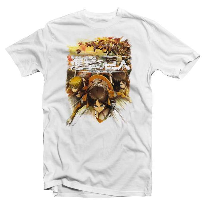 "T shirt blanc manga Attack on Titan ""Bataillon d'Exploration"""