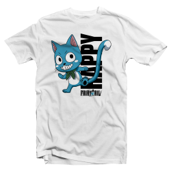 "T shirt manga Fairy Tail ""Happy"""