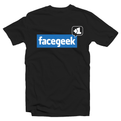 """T-shirt """"Facegeek"""" Parodie Facebook"""