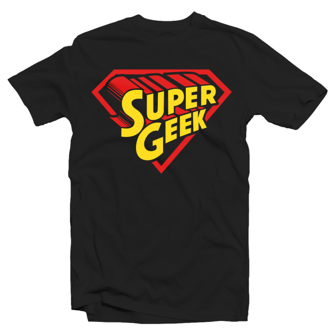 "T-shirt ""Super Geek"" Parodie Superman"