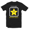 "T-shirt ""You are Invincible"" Parodie Super Mario"