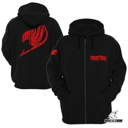 "Sweat capuche noir Fairy Tail ""Logo Guilde"""