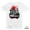 "T shirt blanc Attack on Titan ""Defenders"""