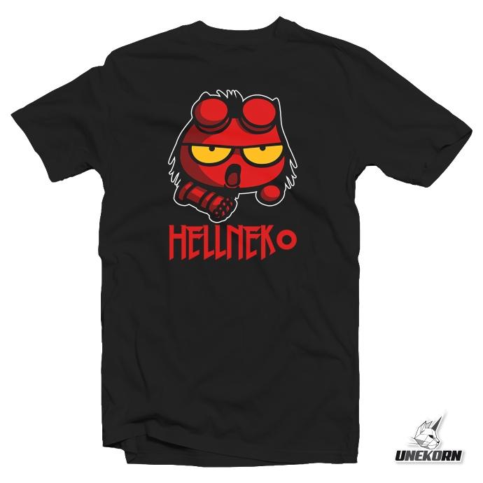 T shirt HellNeko parodie Marvel par Nekowear