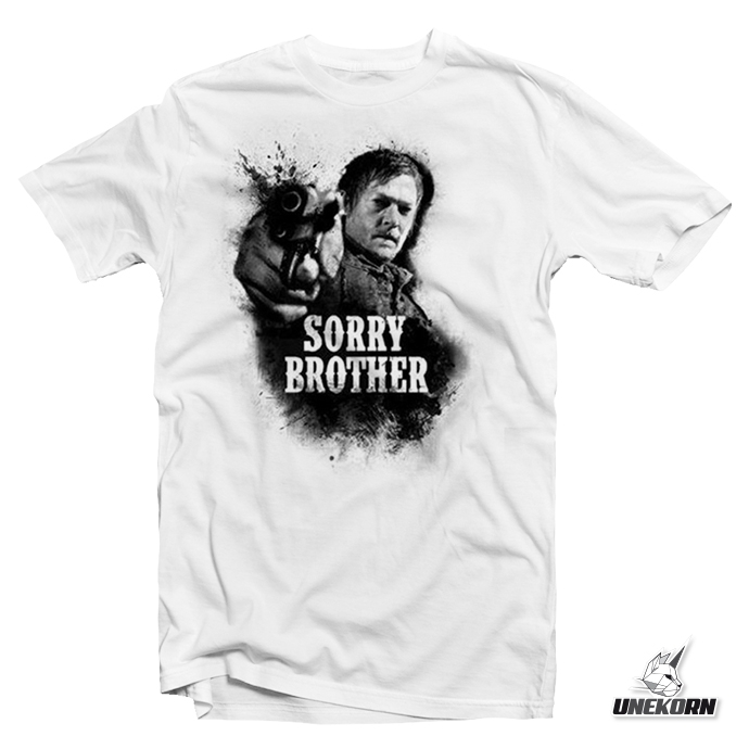 "T shirt The Walking Dead ""Sorry Brother"""