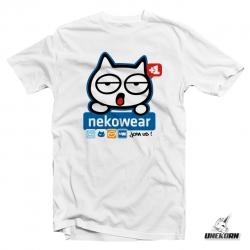 "T shirt Nekowear ""Nekobook"" parodie Facebook"