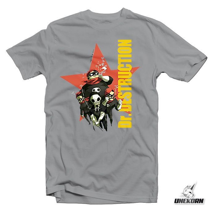 "T shirt gris Lucha Libre ""Dr. Destruction"""