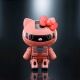 Figurine Hello Kitty - Zaku II Char Hello Kitty - Chogokin Bandai