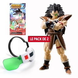 Pack 2 Figurines Dragon Ball : Raditz + Super Saiyan Scouter