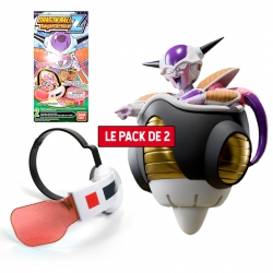 Pack Figurine + Accessoire Dragon Ball Z : Frieza First Form Pod Set + Super Saiyan Scouter