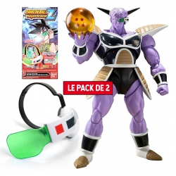 Pack Figurine + Accessoire Dragon Ball : Ginyu + Super Saiyan Scouter