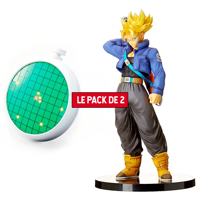 Pack 2 Figurines Dragon Ball : Super Saiyan Trunks + Radar