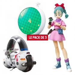 Pack 3 Figurines Dragon Ball : Bulma + Moto + Radar