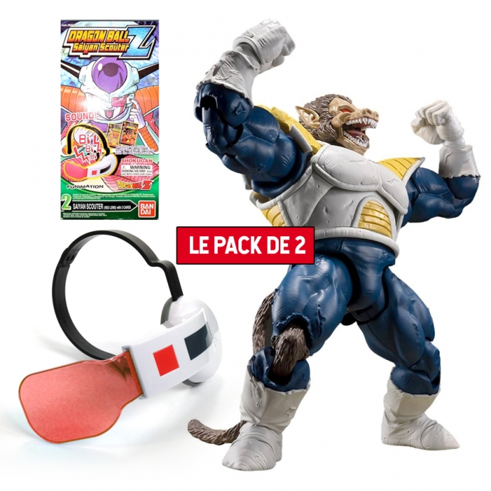 Pack 2 Figurines Dragon Ball : Great Ape Vegeta + Super Saiyan Scouter