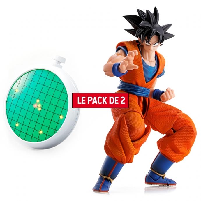 Pack 2 Figurines Dragon Ball : Son Goku + Radar