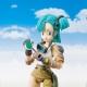 Pack Figurine + Accessoire Dragon Ball : Bulma + Tamashii Stage