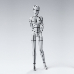 Body Chan Wireframe Gray - S.H.Figuarts