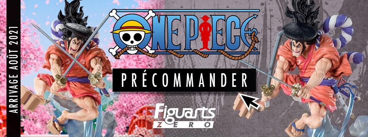 Odin ! le personnage que tous les fans de One Piece et particulièrement de l'arc Wa No Kuni attendaient arrive en Figuart Zero dans la gamme dynamique Extra Battle.