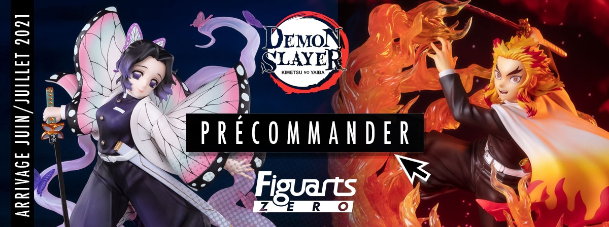 Figurines Demon Slayer : Kyojuro Rengoku Flame Breathing et Shinobu Kocho Insect Breathing