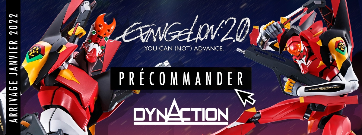 La série DYNACTION a été lancée avec l'EVA-01 Evangelion, et maintenant l'EVA-02 rejoint la série !