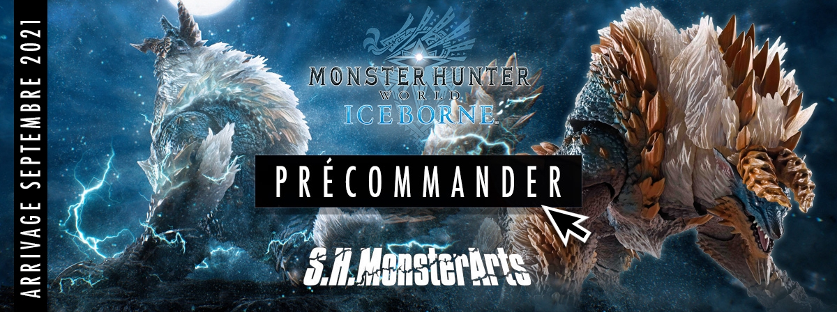 Le redoutable Thunder Wolf Wyvern Zinogre rejoint S.H.MonsterArts !
