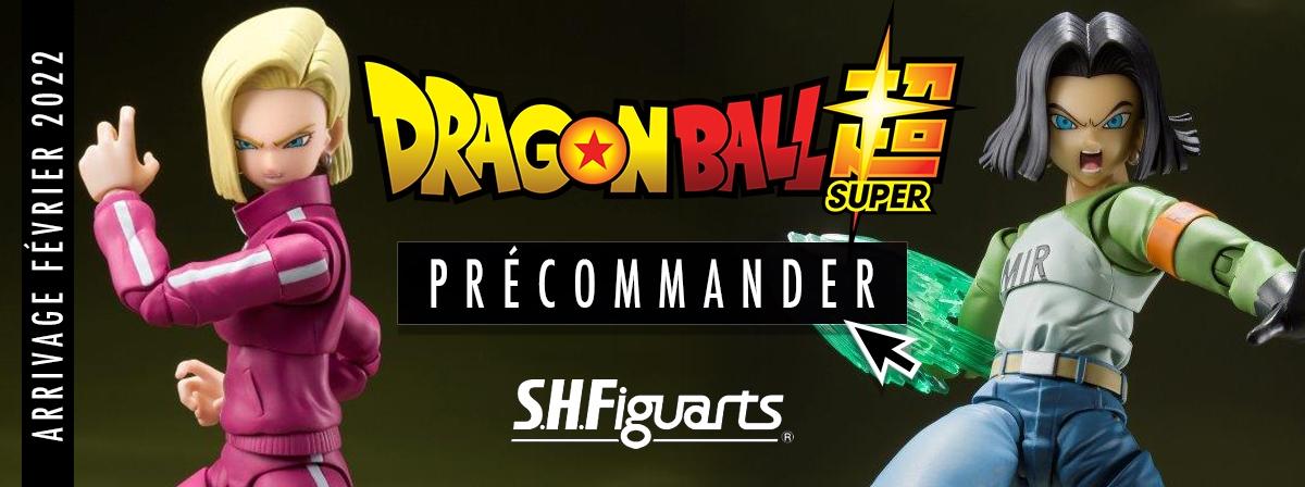 De l'Univers Survival Saga de Dragon Ball Super, Android 17 et 18 rejoignent les S.H.Figuarts ! Faite d'ABS et de plastique PVC, elle mesure 135 mm. Les parties optionnelles vous permettront de créer des poses dynamiques.