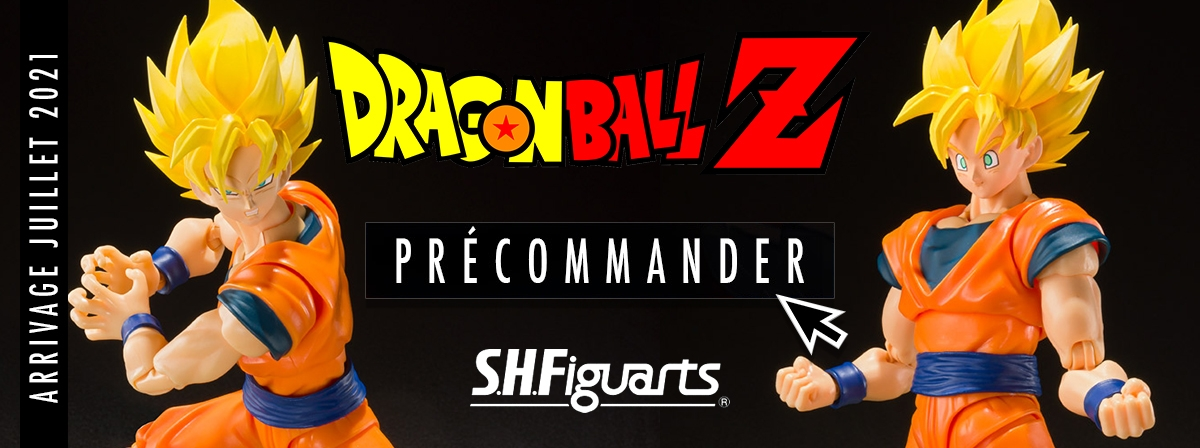 Voici la nouvelle S.H.Figuarts de Goku à petit prix. Le set inclus : 3 expressions de visages et mains interchangeables.