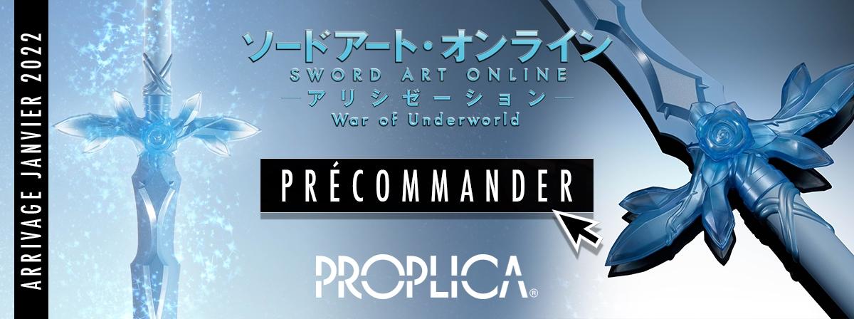 """L'épée de la rose bleue de la série animée à succès """"Sword Art Online: Alicization - War of Underworld"""" rejoint la gamme PROPLICA."""