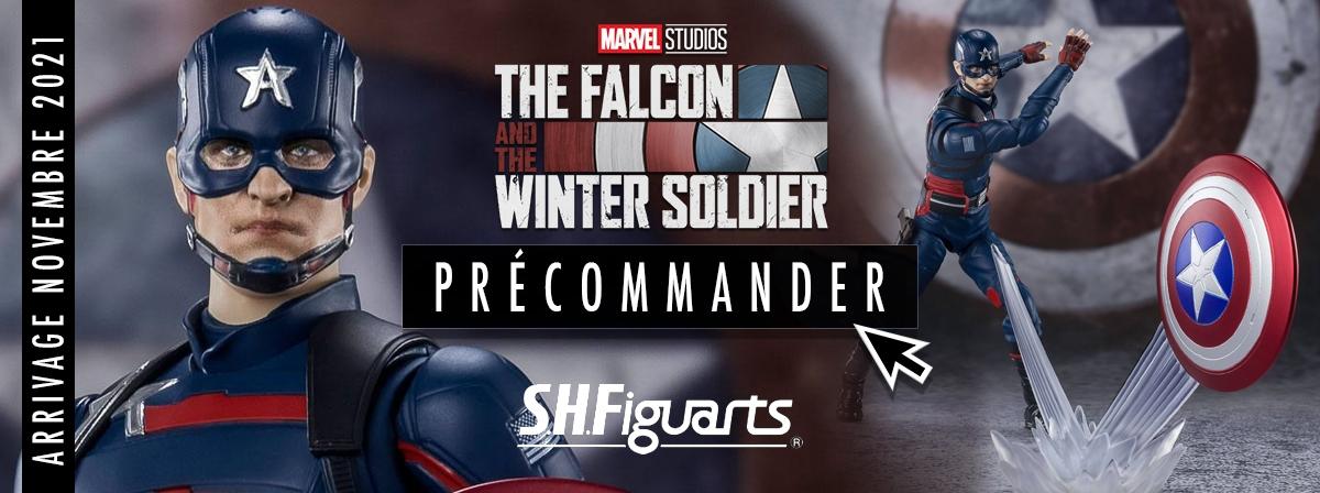 De la série The Falcon and the Winter Soldier, le deuxième Captain America, John F.Walker, rejoint la gamme S.H.Figuarts !