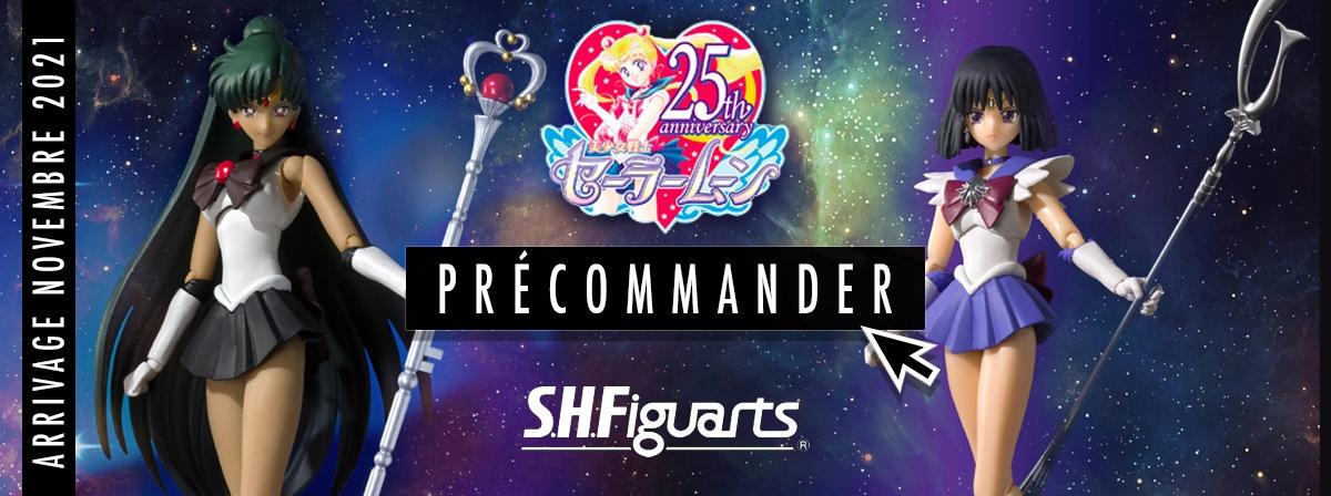 Découvrez Sailor Pluton et Sailor Saturne avec des couleurs inspirées de la série animée classique des années 90 !