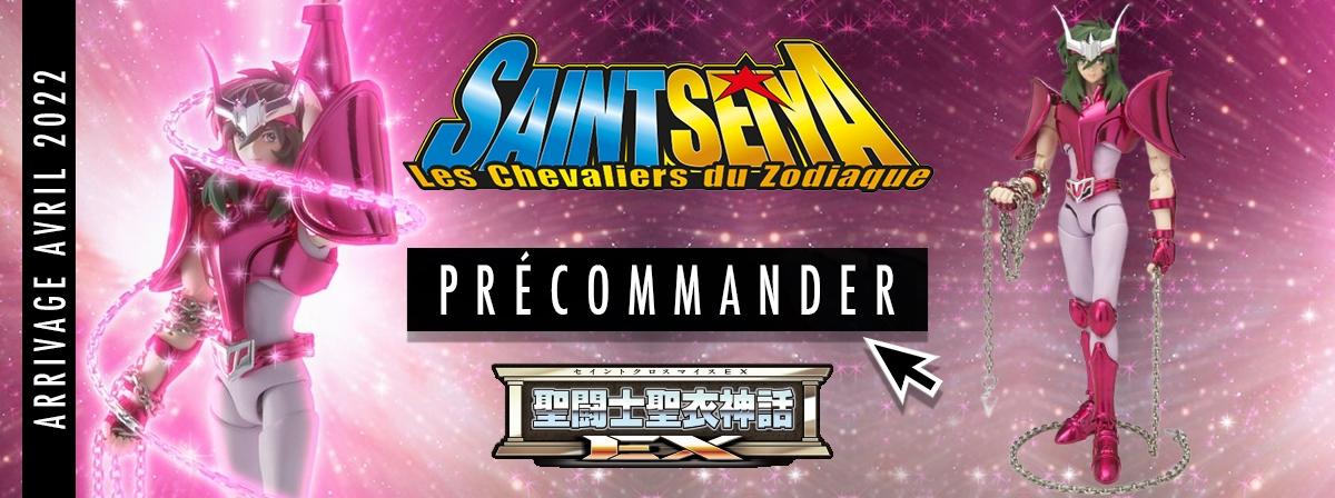 ANDROMEDA SHUN, portant sa nouvelle armure de bronze, rejoint la série Saint Cloth Myth EX dans une version spéciale Revival !