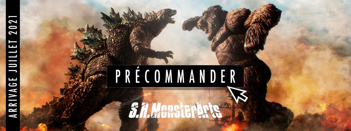 King Kong, comme on le voit dans le prochain film 2021 «GODZILLA VS KONG», rejoint S.H.Monsterarts ! La posabilité naturelle vous permet de recréer vos scènes préférées.