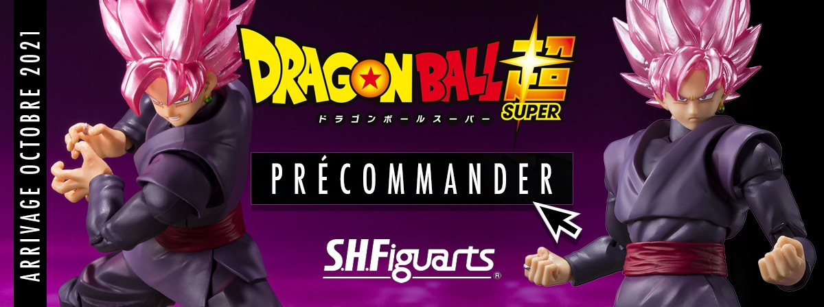 "Goku Black -Super Saiyan Rosé-, comme on le voit dans ""Dragon Ball Super"", rejoint les S.H.Figuarts !"