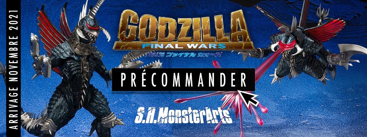 Tiré du film de 2004 GODZILLA : FINAL WARS, le titanesque kaiju Gigan rejoint la gamme S.H.MonsterArts dans une nouvelle version Great Decisive Battle.